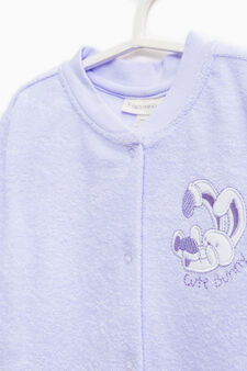 Cotton blend sleepsuit with embroidery, Lilac, hi-res
