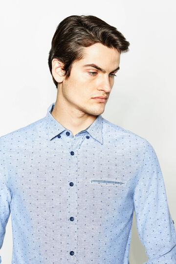 Patterned cotton casual shirt