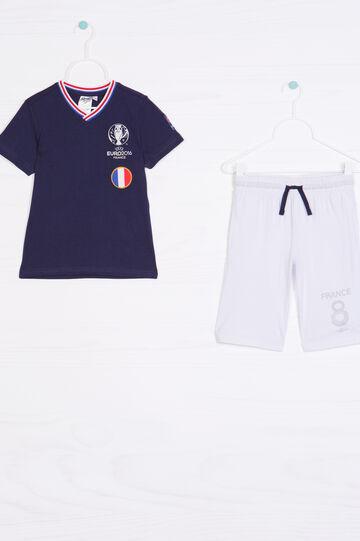 Completo puro cotone UEFA Euro 2016, Bianco/Blu, hi-res