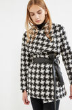 Wool blend hounds' tooth coat, White/Black, hi-res