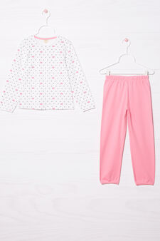100% cotton pyjamas with all-over print, Multicolour, hi-res