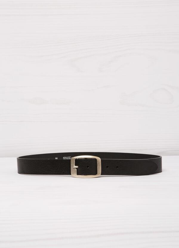 Cintura vera pelle fibbia rettangolare | OVS