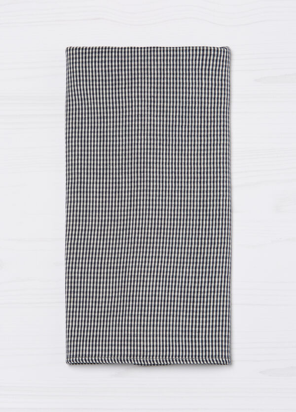 G&H check scarf in cotton blend | OVS