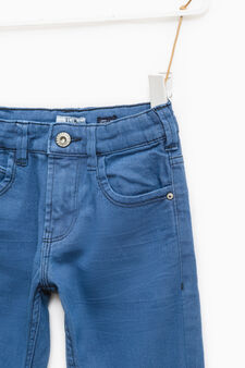 Slim-fit, stretch jeans with whiskering, Royal Blue, hi-res