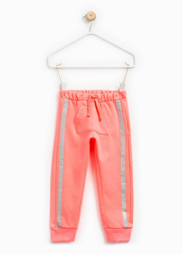 Pantalón de chándal con franjas con purpurina | OVS