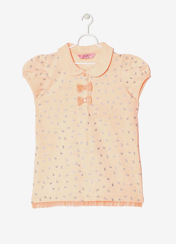 Polo shirt with glitter pattern | OVS