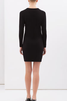 Dress in stretch viscose blend, Black, hi-res