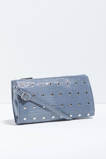 Shoulder bag with crocodile texture
