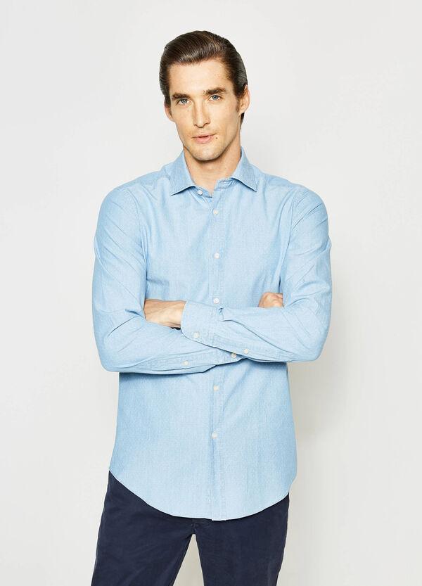 Slim-fit micro-polka dot Rumford shirt | OVS