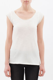 Round-neck T-shirt, Milky White, hi-res