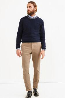 Pullover Rumford misto cashmere, Blu navy, hi-res
