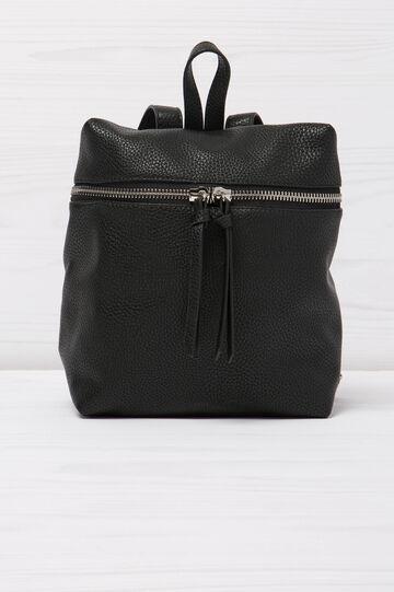 Solid colour backpack, Black, hi-res