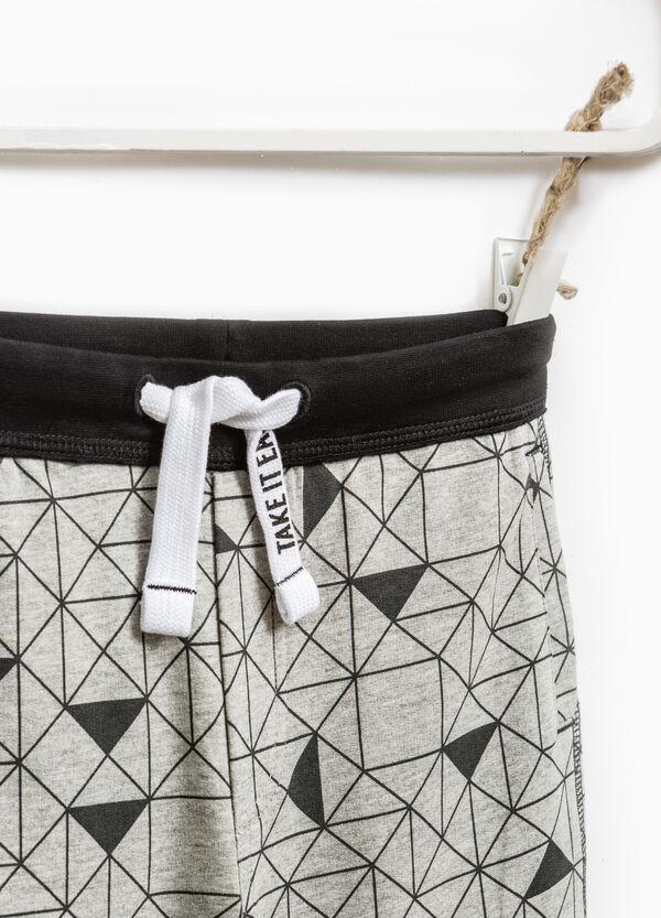 Cotton Bermuda shorts with geometric pattern | OVS