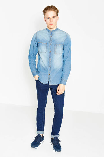 G&H washed-effect casual denim shirt