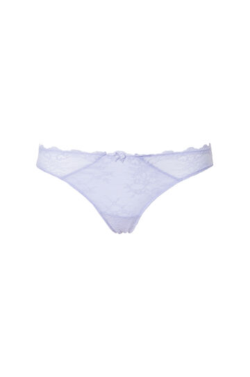 Lace thong with bow, Lilac, hi-res