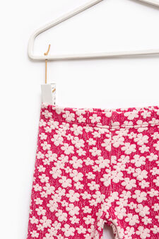 Stretch floral trousers, Fuchsia, hi-res