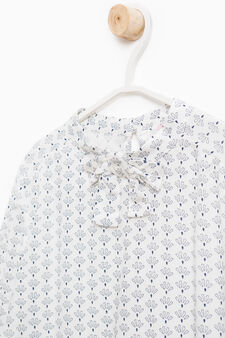Viscose blouse with all-over print, White, hi-res