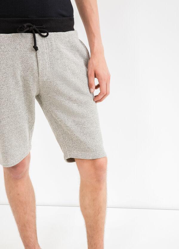Bermudas en felpa de algodón 100% con cintura en canalé | OVS