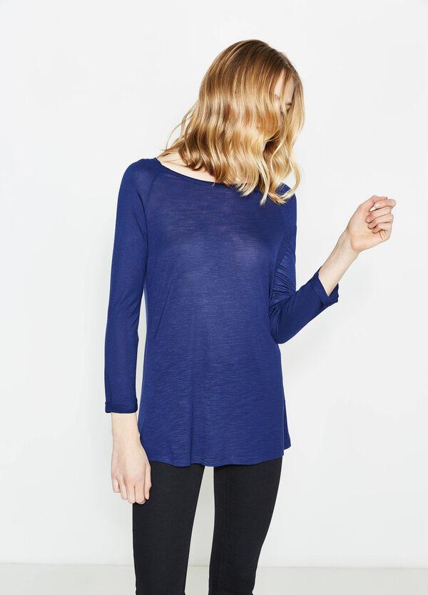 T-shirt with raglan sleeves with turn-ups | OVS