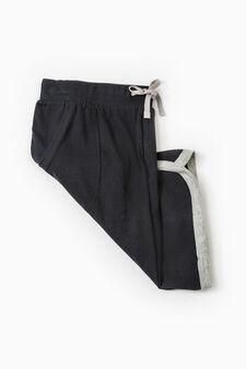 Bermuda pyjamas in 100% cotton, Black, hi-res