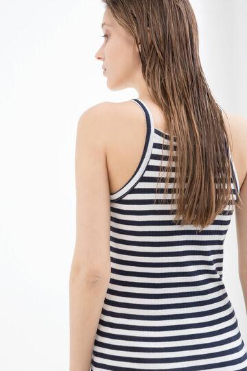 Striped, 100% cotton top, Milky White, hi-res