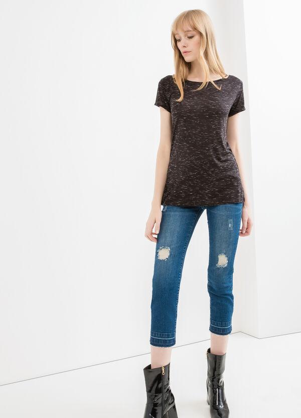 T-shirt viscosa maniche con risvolto | OVS