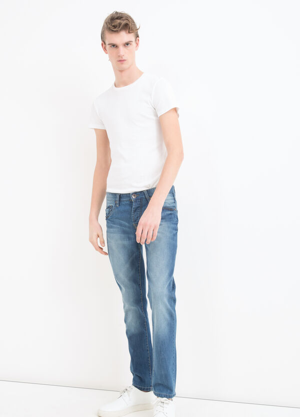Slim-fit, worn-effect jeans | OVS