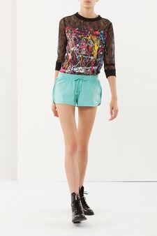 Cotton shorts, Emerald Green, hi-res