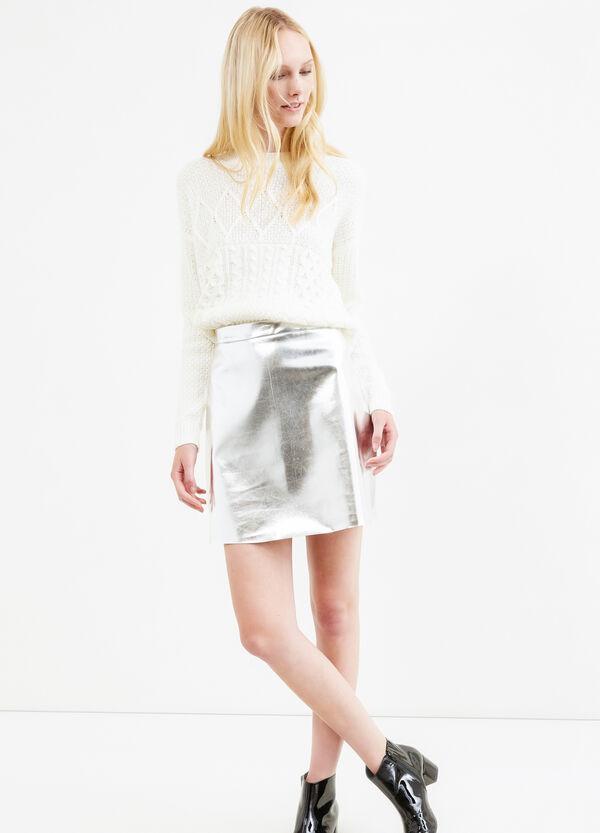 High waist shiny skirt | OVS