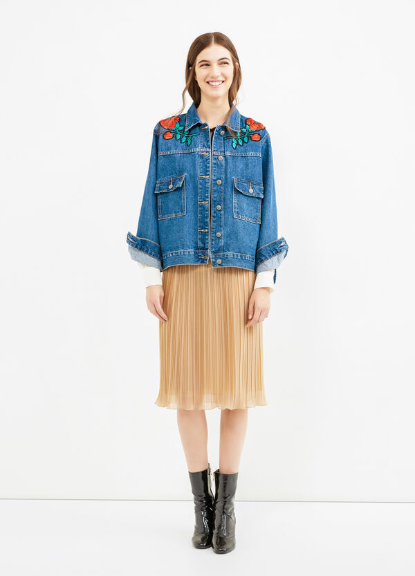 Denim jacket with patches and pockets | OVS