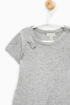 Dotted viscose blend dress., Grey Marl, hi-res