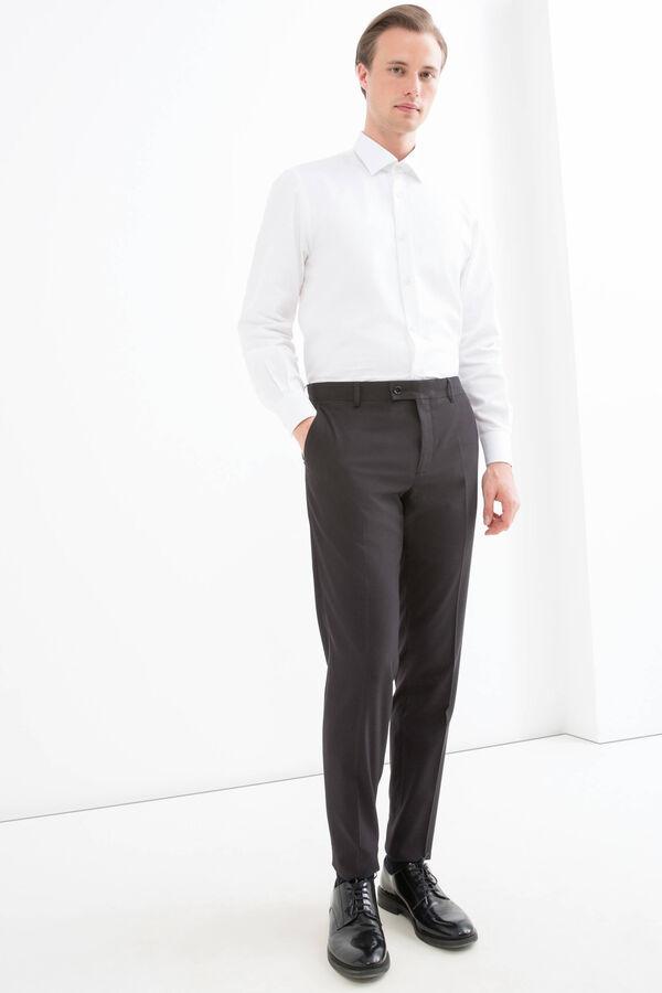 Slim-fit viscose trousers | OVS