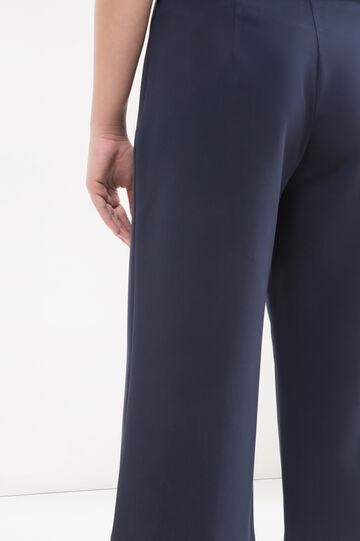 Curvy gaucho model trousers, Blue, hi-res