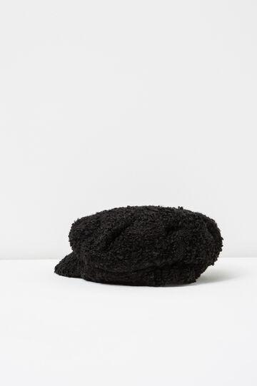 Coppola tricot con visiera, Nero, hi-res
