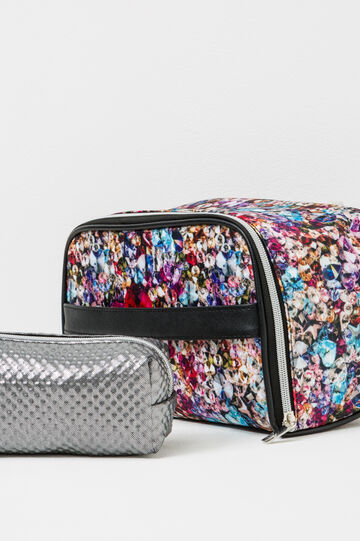 Set of two makeup bags with zip, Multicolour, hi-res