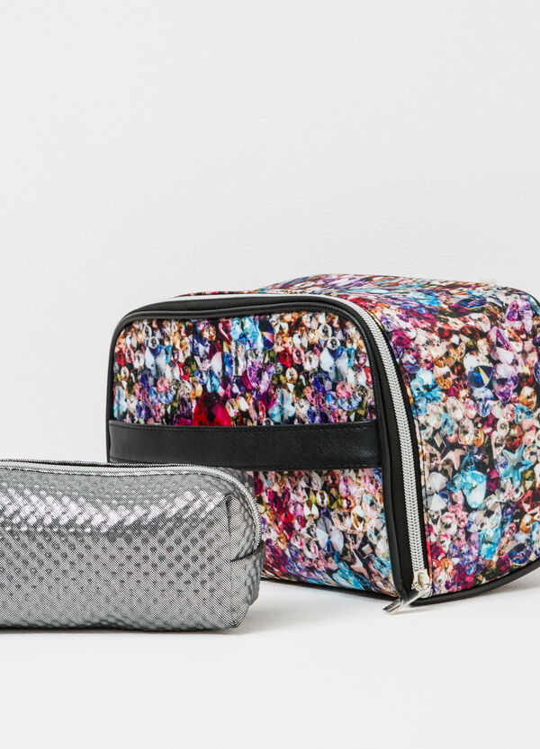 Set of two makeup bags with zip | OVS