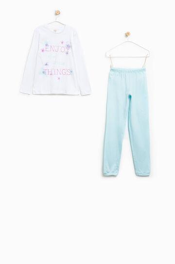 100% Biocotton pyjamas with lettering print