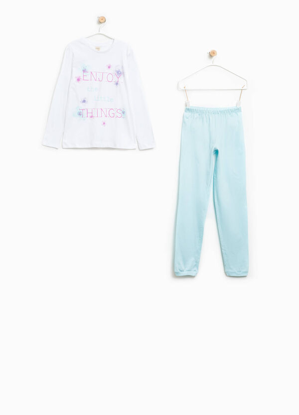 100% Biocotton pyjamas with lettering print | OVS
