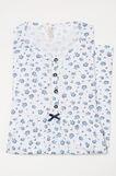 Floral patterned nightshirt, White/Blue, hi-res