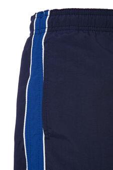 Swim boxer shorts with drawstring, Navy Blue, hi-res