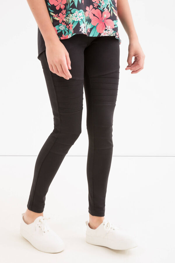 Teen stretch viscose blend leggings | OVS
