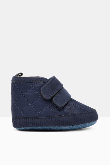 Soft toddler shoes with Velcro fastening, Navy Blue, hi-res