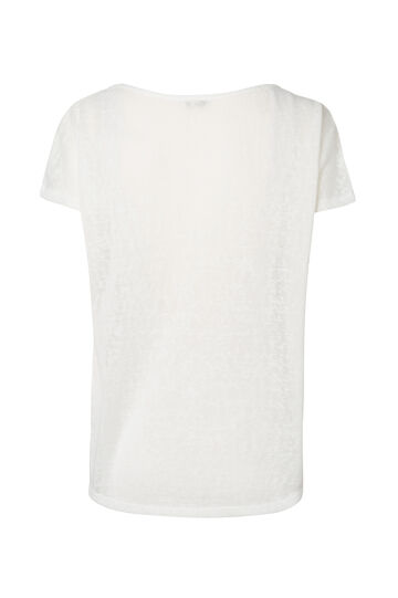 Smart Basic solid colour T-shirt with inserts, White, hi-res