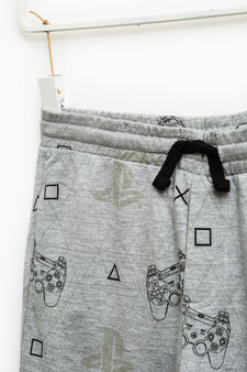 PlayStation pattern joggers, Grey Marl, hi-res