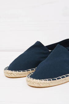 Espadrilles with profiled cord sole, Navy Blue, hi-res