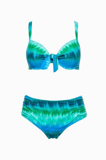 Curvy printed bikini bra