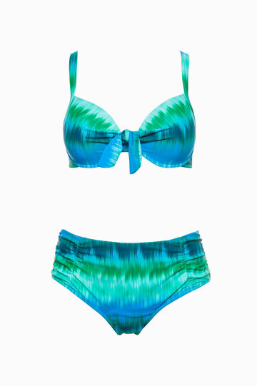 Curvy swim briefs with all-over print
