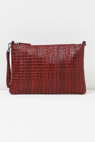 Python-effect clutch bag, Red, hi-res