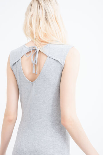 Stretch cotton dress, Grey Marl, hi-res