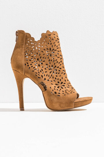 Openwork ankle boots with open toe